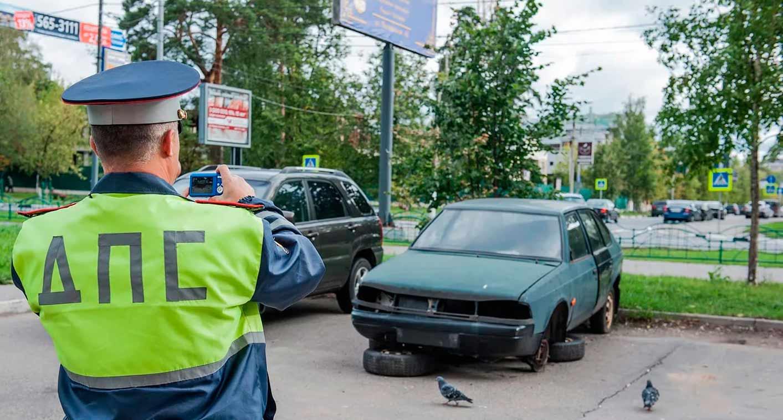 Проблема бесхозных автомобилей, брошенных во дворах